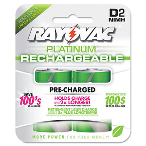 ESRAYPL7132GEND - Recharge Plus Nimh Batteries, D, 2-pack