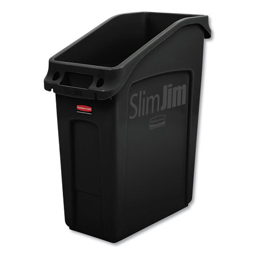 ESRCP2026696 - SLIM JIM UNDER-COUNTER CONTAINER, 13 GAL, POLYETHYLENE, BLACK
