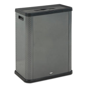 Elevate Decorative Refuse Container, Mixed Recycling, 23 Gal, 25.14 X 12.8 X 31.5, Pearl Dark Gray
