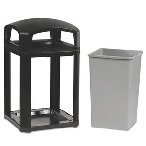 ESRCP397001SAB - Landmark Series Classic Dome Top Container W-ashtray, Plastic, 35 Gal, Sable