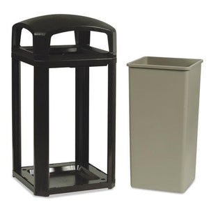 ESRCP397501SAB - Landmark Series Classic Dome Top Container W-ashtray, Plastic, 50 Gal, Sable
