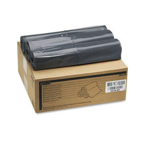 ESRCP501388GRA - Linear Low Density Can Liners, 56gal, 1.3mil, 43 X 47, Gray, 100 Bags-carton