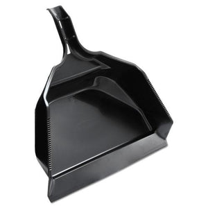 "ESRCP9B59BLACT - Extra Large Dust Pan, 14 4-5w X 16""l X 5 2-5""h, Black, Plastic, 6-carton"