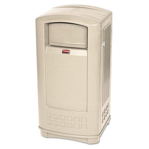 ESRCP9P9000BG - Plaza Indoor-outdoor Waste Container, Rectangular, Plastic, 35gal, Beige