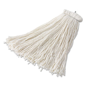 Bolt-on Cut-end Mop Head, Rayon, 24 Oz, White, 6-carton