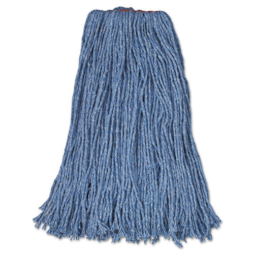 "ESRCPF51912BLU - Cotton-synthetic Cut-End Blend Mop Head, 32oz, 1"" Band, Blue, 12-carton"
