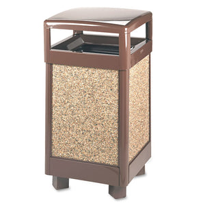 ESRCPR36HT201PL - Aspen Series Hinge Top Receptacle, Square, Steel, 29 Gal, Brown