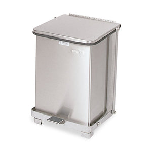 ESRCPST7SSPL - Defenders Biohazard Step Can, Square, Steel, 7gal, Stainless Steel