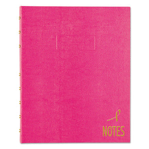 ESREDA7150PNK4 - Notepro Notebook, 9 1-4 X 7 1-4, White Paper, Bright Pink Cover, 75 Ruled Sheets