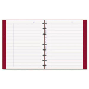 ESREDAF915083 - Miraclebind Notebook, College-margin, 9 1-4 X 7 1-4, White, Red Cover, 75 Sheets