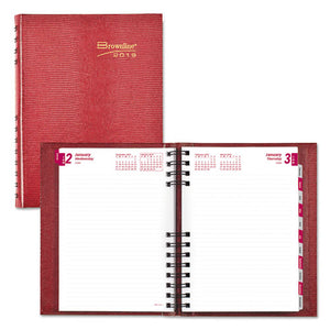 ESREDCB389CRED - COILPRO DAILY PLANNER, RULED 1 DAY-PAGE, 8 1-4 X 5 3-4, RED, 2019