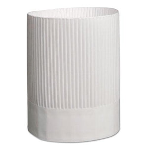 ESRPPSCH9 - Stirling Fluted Chef's Hats, Paper, White, Adjustable, 9 In. Tall, 12-carton