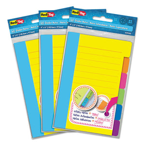 ESRTG10245 - Divider Sticky Notes With Tabs, Assorted Colors, 60 Sheets-set, 3 Sets-box