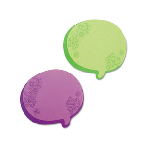 ESRTG22102 - Thought Bubble Notes, 2 3-4 X 3, Green-purple, 75-Sheet Pads, 2-set