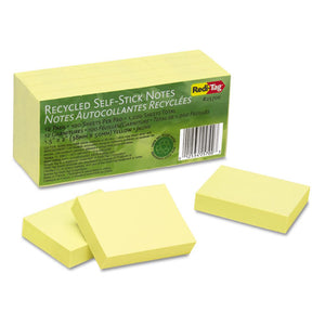 ESRTG25700 - 100% Recycled Notes, 1 1-2 X 2, Yellow, 12 100-Sheet Pads-pack