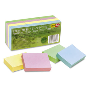 ESRTG25701 - 100% Recycled Notes, 1 1-2 X 2, Four Pastel Colors, 12 100-Sheet Pads-pack