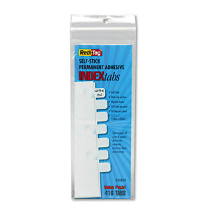 ESRTG31010 - Side-Mount Self-Stick Plastic Index Tabs, 1 Inch, White, 416-pack