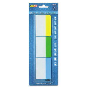 ESRTG31080 - Write-On Self-Stick Index Tabs, 1 1-2 X 2, Blue, Green, Yellow, 30-pack
