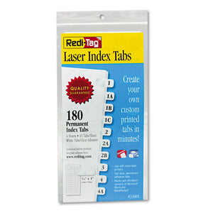ESRTG33001 - Laser Printable Index Tabs, 7-16 Inch, White, 180-pack