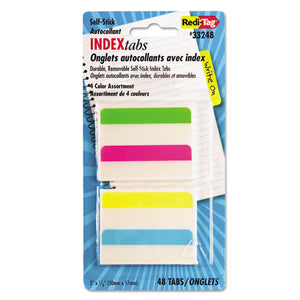 ESRTG33248 - Write-On Self-Stick Index Tabs, 2 X 11-16, 4 Colors, 48-pack