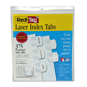 ESRTG39017 - Laser Printable Index Tabs, 1 1-8 X 1 1-4, White, 375-pack