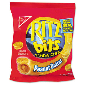 ESRTZ06833 - Ritz Bits, Peanut Butter, 1.5oz Packs, 60-carton