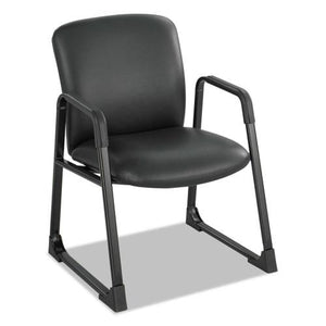 ESSAF3492BV - Uber Series Big & Tall Sled Base Guest Chair, Vinyl, Black