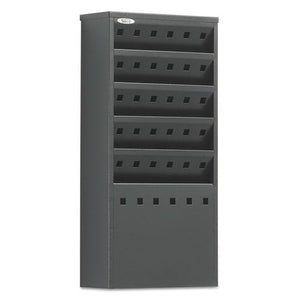 ESSAF4310BL - Steel Magazine Rack, Five Compartments, 10w X 4d X 20-1-2h, Black