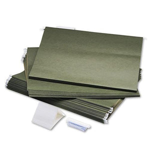 ESSAF5038 - Hanging File Folders, Compressed Paper Fiber, 18 X 14, Green, 25-box