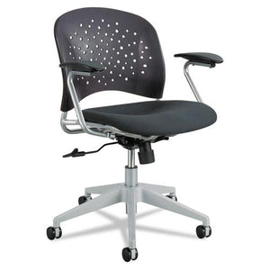 ESSAF6803BL - Reve Series Task Chair, Round Plastic Back, Polyester Seat, Black Seat-back