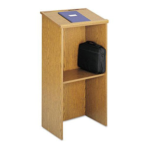ESSAF8915MO - Stand-Up Lectern, 23w X 15-3-4d X 46h, Medium Oak