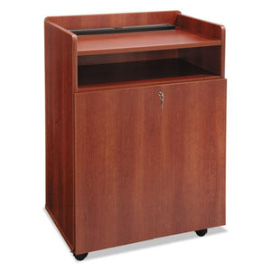 ESSAF8919CY - Executive Mobile Presentation Stand, 29-1-2w X 20-1-2d X 40-3-4h, Cherry