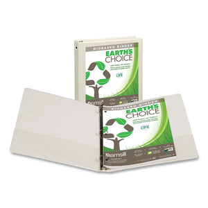 "ESSAM17337 - EARTH'S CHOICE BIOBASED ECONOMY ROUND RING VIEW BINDERS, 1"" CAP., WHITE"