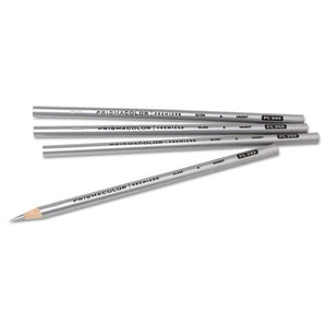 ESSAN03375 - Thick Lead Art Pencil, Silver Lead-barrel, Dozen