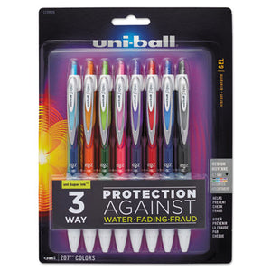 ESSAN1739929 - Signo 207 Retractable Gel Pen, Assorted Ink, 0.7mm, 8-set