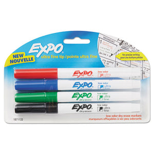 ESSAN1871133 - Low-Odor Dry-Erase Marker, Ultra Fine Point, Assorted, 4-pack