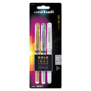 ESSAN1919997 - Impact Bold Gel Pen, 1mm, Assorted Metallic Colors, 3-set