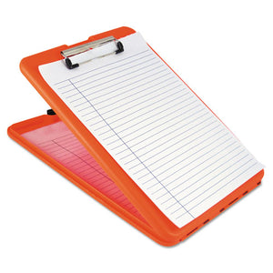 "ESSAU00579 - Slimmate Storage Clipboard, 1-2"" Clip Cap, 8 1-2 X 11 Sheets, Hi-Vis Orange"