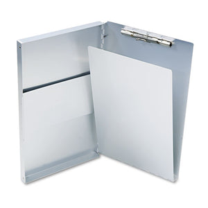 "ESSAU10519 - Snapak Aluminum Side-Open Forms Folder, 1-2"" Clip, 8 1-2 X 14 Sheets, Silver"