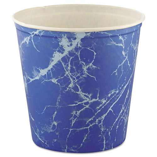 ESSCC10T3M - Double Wrapped Paper Bucket, Waxed, Blue Marble, 165oz, 100-carton