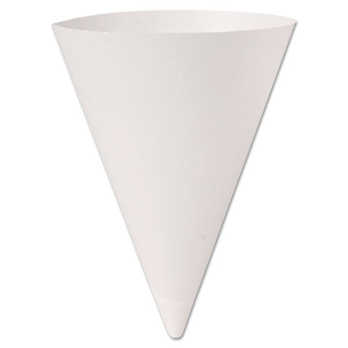 ESSCC156BB - Bare Treated Paper Cone Water Cups, 7 Oz., White, 250-bag, 20 Bags-carton