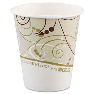 ESSCC376SMSYM - Paper Hot Cups In Symphony Design, Polylined, 6oz, Beige-white, 1000-carton