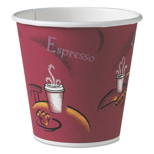 ESSCC410SI0041 - Polycoated Hot Paper Cups, 10 Oz, Bistro Design, 50-pack, 20 Pack-carton