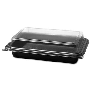 ESSCC844012PM94 - Carryout Hinged Plastic Deli Boxes, 6.2 X 8.7 X 2.2, Black-clear, 200-carton