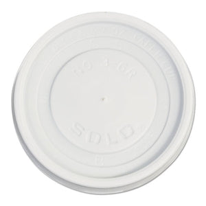 ESSCCVL36R - Polystyrene Vented Hot Cup Lids, 4-6 Oz Cups, White, 100-pack, 10 Packs-carton