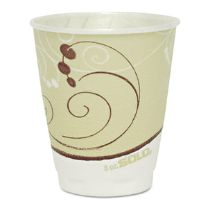 ESSCCX8J8002 - Symphony Design Trophy Foam Hot-cold Drink Cups, 8oz, Beige, 1000-carton