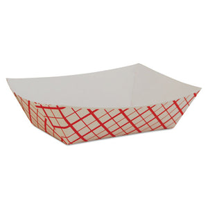 ESSCH0409 - Paper Food Baskets, Red-white Checkerboard, 1-2 Lb Capacity, 1000-carton