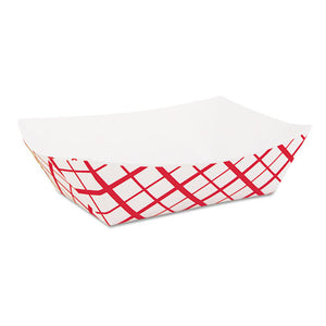 ESSCH0417 - Paper Food Baskets, 2lb, Red-white, 1000-carton