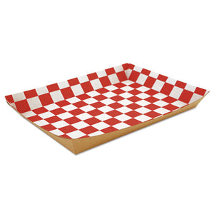 "ESSCH0590 - Lunch Trays, Paperboard, Red-white Check, 10.5""w X 7.5""d X 1.5""h, 250-carton"