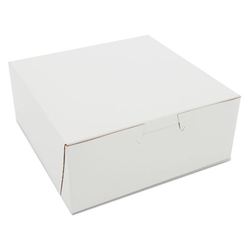 ESSCH0901 - Non-Window Bakery Boxes, Paperboard, 6w X 6d X 2-1-2h, White, 250-carton